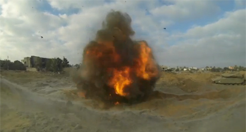 IDF tunnel destroyed by IDF during Operation Protective Edge. (Photo: IDF Spokesman's Unit)
