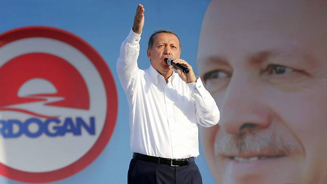 Erdoğan at an Istanbul rally during Presidential elections in 2014. (Photo: EPA) (Photo: EPA)