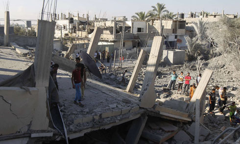 Destruction caused to a home in Rafah (Photo: AFP)