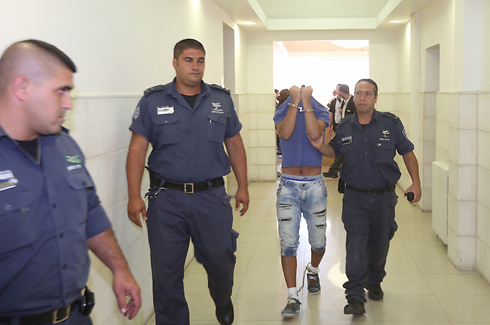 One of the accused in court (Photo: Gil Yohanan)