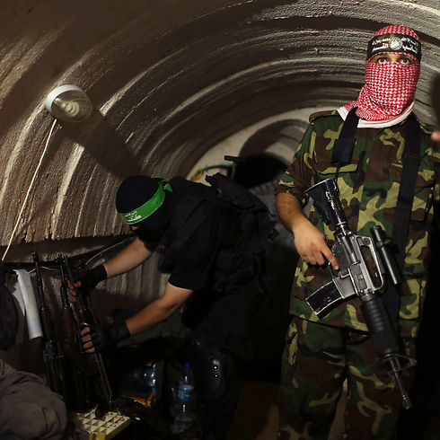 Hamas militants inside a tunnel during Operation Protective Edge. (Photo: Reuters) (Photo: Reuters)