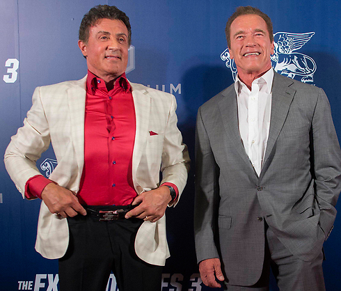Stallone and Schwarzenegger among celebrities that voiced public support for Israel (Photo: EPA) (Photo: EPA)