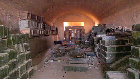 Ammunition cache seized by ISIS in Syria (Photo: AP)