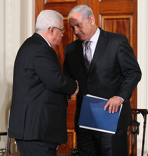 With Netanyahu. Abbas has given up hope on the negotiations with Israel (Photo: Gettyimages)