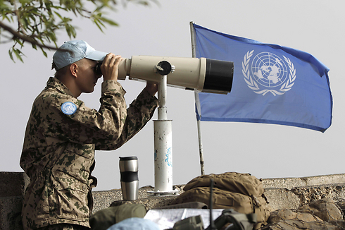UNDOF forces at Quneitra. Terrorists attacked under their noses (Photo: AFP) (Photo: AFP)