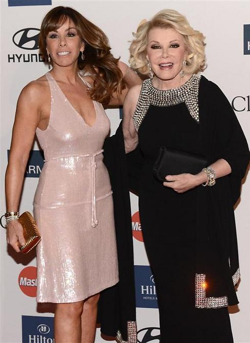 Joan Rivers with daughter Melissa. (Photo: AFP) (Photo: AFP)