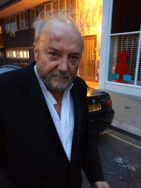 Galloway following assault in photo posted on Twitter by the Respect party. (Photograph: @ukrespectparty/Twitter/PA) (Photo: @ukrespectparty/Twitter/PA)