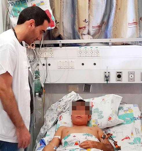 The wounded Syrian boy. Arrived at an IDF post near Israel-Syria border riding a donkey (Photo: Courtesy of Ziv Hospital) (Photo: Courtesy of Ziv Hospital)