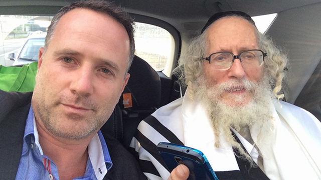 Rabbi Berland (right) with his attorney.