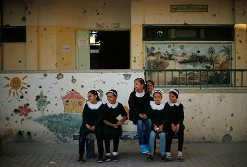 UNRWA school damaged during the conflict (Photo: Reuters)
