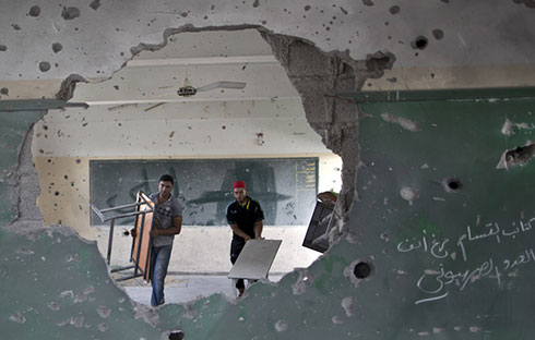 School damaged during Operation Protective Edge (Photo: AFP) (Photo: AFP)