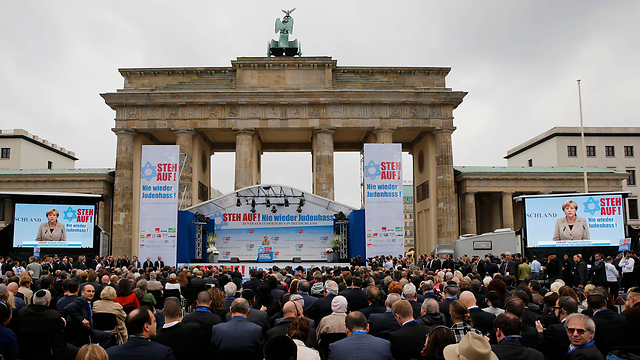 File photo. A rally against anti-Semitism in Berlin (Photo: Reuters)