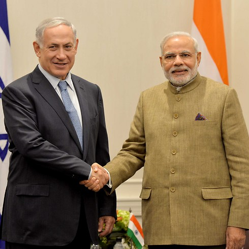 Netanyahu with Indian PM Modi (Photo: Avi Ohayon, GPO) (Photo: Avi Ohayon, GPO)