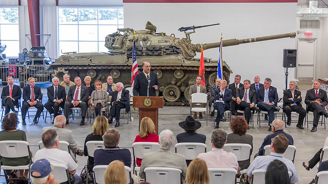 Dedication ceremony in Long Island (Photo courtesy of Museum of American Armor)  (Photo courtesy of Museum of American Armor)