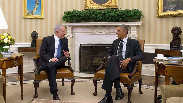 Netanyahu and Obama at White House in 2014 (Photo: AFP) (Photo: AFP)