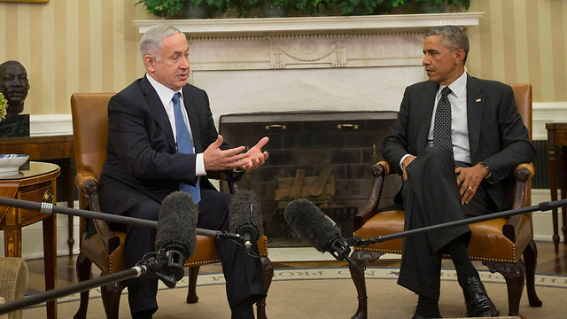 Netanyahu and Obama at White House in 2014 (Photo: AP) (Photo: AFP)