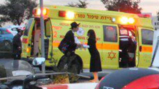 Aftermath of the attack at Ammunition Hill (Photo: United Hatzalah)  (Photo: United Hatzalah)