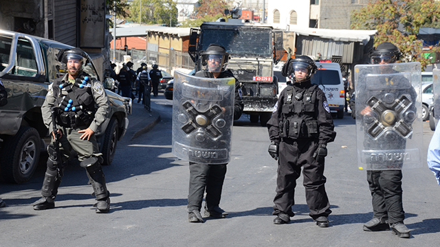 Police 'only giving a reason to start stone-throwing' (Photo: Mohammed Shinawi)