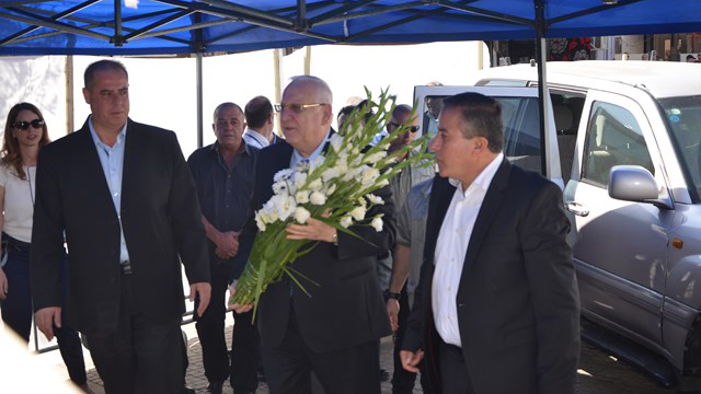 President Rivlin visits the Israeli Arab city of Kafr Qasim. He embraces, he reconciles, he searches for a common ground (Archive photo: Halal)