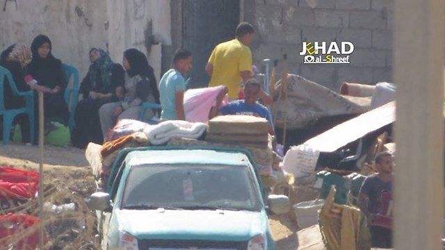 Egyptian residents vacate their homes in Rafah to make way for a buffer zone.