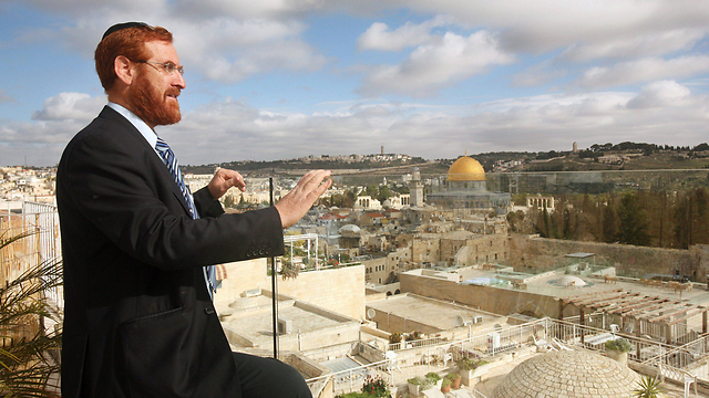 Glick looks out over Temple Mount in 2013 (Photo: EPA) (Photo: EPA)
