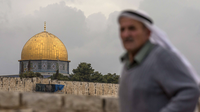 A Palestinian visiting the Temple Mount area for Friday prayers. (Photo: AFP)