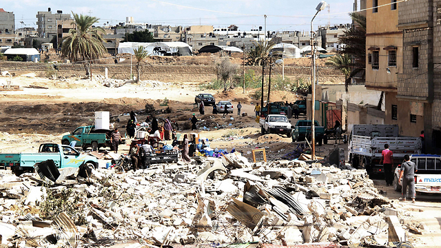 Rubble in Rafah near the Gaza border. (Photo: AFP) (Photo: AFP)