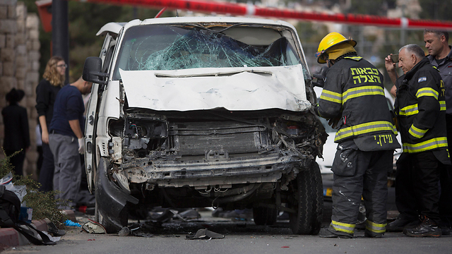 Aftermath of the attack in Jerusalem on November 5 (Photo: AP) (Photo: AP)