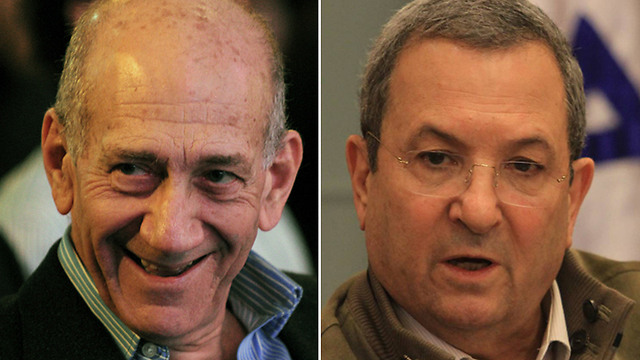 Ehud Olmert and Ehud Barak. Bothe were willing to make peace with compromises, both failed (Photo: Gil Yohanan, Yaron Brener)