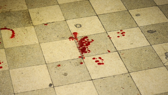 Blood left at the scene of the attack (Photo: Motti Kimchi)
