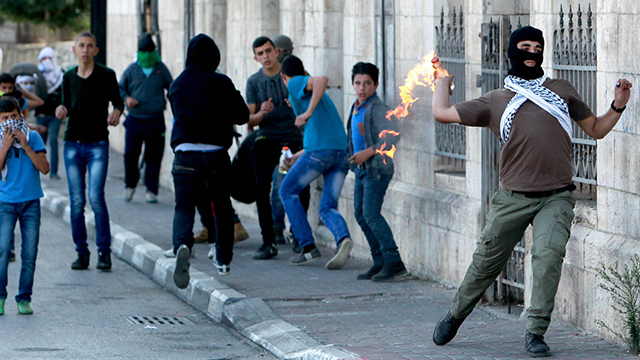Violence between police and Palestinians in the West Bank. (Photo: AFP) (Photo: AFP)