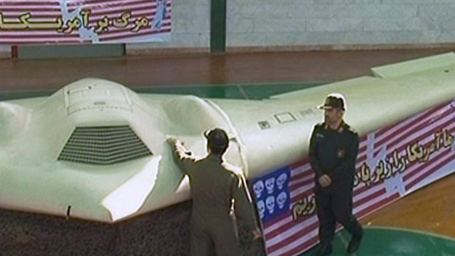 Iran presenting the drone (Photo: AFP)