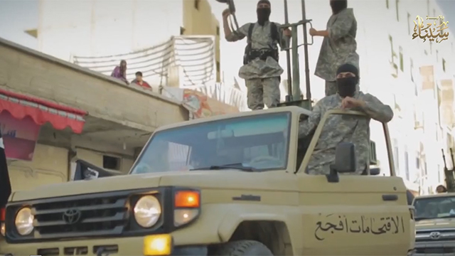 ISIS fighters in Sinai (archives)
