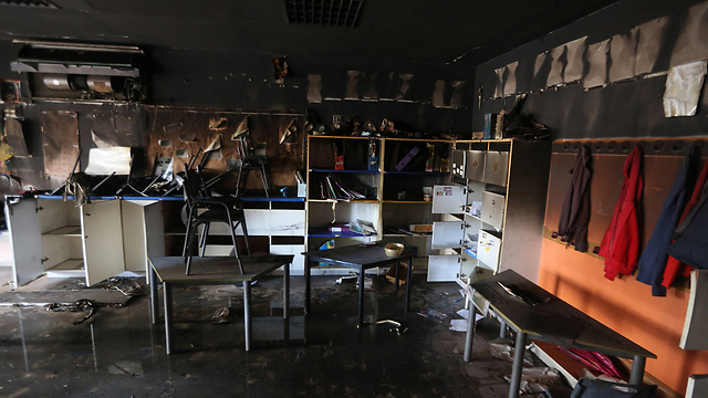 A classroom inside the school after the attack. (Photo: Gil Yohanan) (Photo: Gil Yohanan)