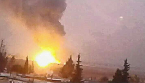 File photo of a previous attack in Damascus attributed to the IAF