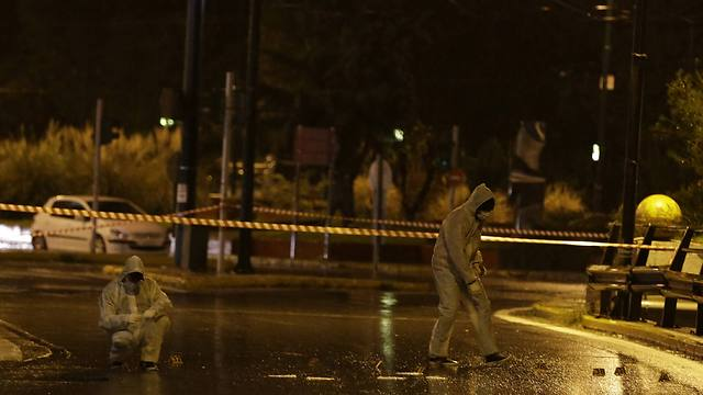 Scene of shooting in Athens (Photo: AP) (Photo: AP)