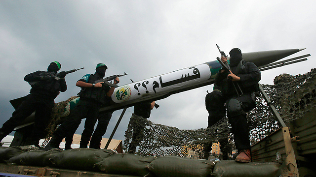 Rocket named for Hamas leader killed by Israel. (Photo: Reuters) (Photo: Reuters)