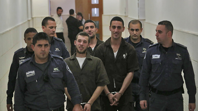 The Twito brothers in court (Photo: Gil Yohanan)