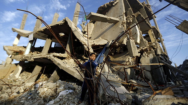 Destruction in Gaza following Operation Protective Edge (Photo: AFP) (Photo: AFP)