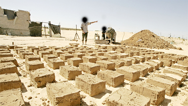Building materials intended for Hamas in Egypt (Archive photo)