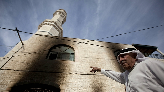 The exterior of the mosque after the fire in November. (Photo: Associated Press) (Photo: Associated Press)