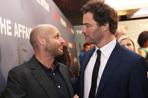 Hagai Levi (L) with The Affair star Dominic West. (Photo: Gali Ben Shimol) (Photo: Gali Ben Shimol)