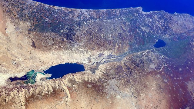 Israel from space (Photo: Barry Wilmore) (Photo: Barry Wilmore)