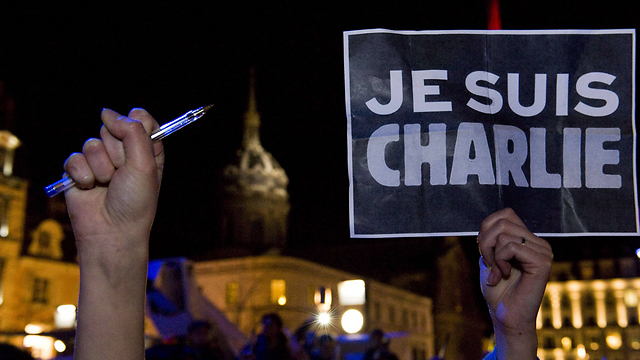 Solidarity rally in Paris. 'France will not say out loud what millions in Europe are thinking in their hearts: It's either them, the Muslims, or us, the Europeans' (Photo: AFP)