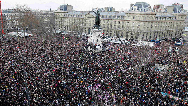 Over a million people participated in the silent march in Paris on Sunday. (Photo: Reuters)