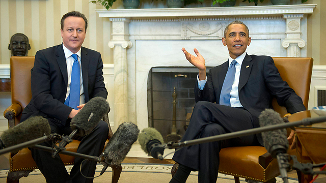 Cameron and Obama at the White House (Photo: AP)