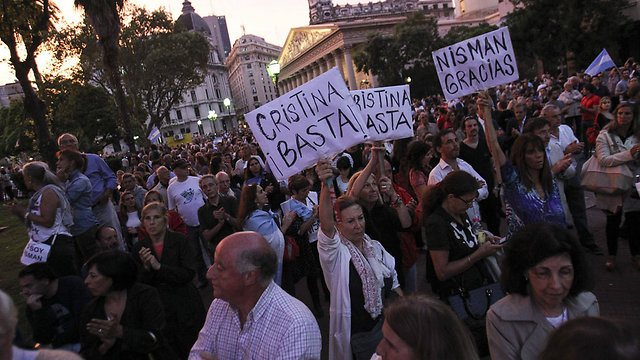 Protesters in Buenos Aires demanding justice for Nisman's death (Photo: EPA)