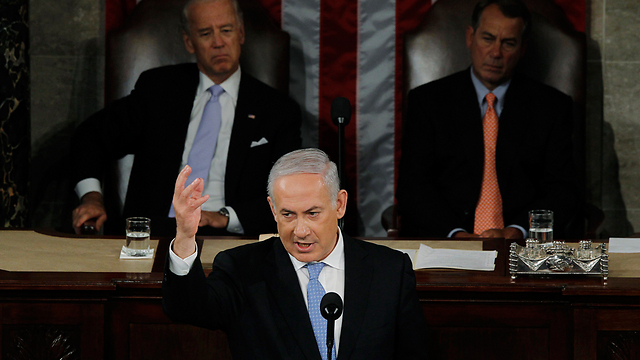 Netanyahu speaking at the US Congress in 2011 (Photo: Reuters)