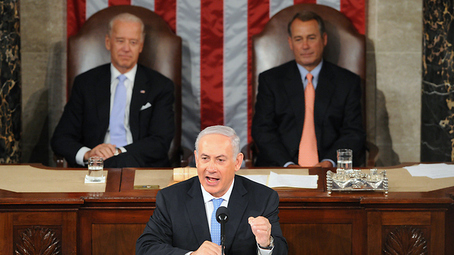 Netanyahu addresses Congress in May 2011 (Photo: AFP) (Photo: AFP)