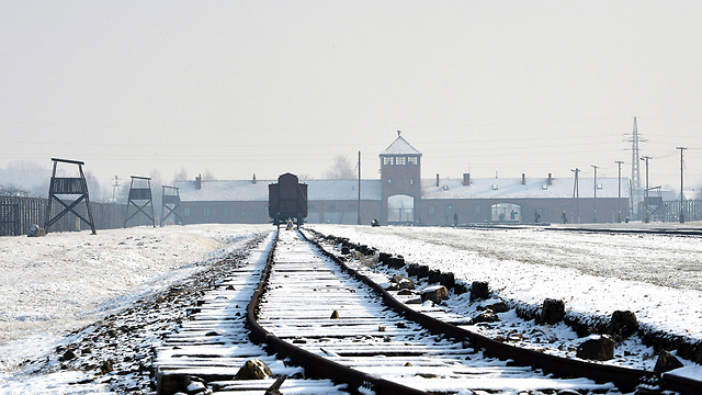 The railroad tracks leading to Auschwitz (Photo credit: AFP)